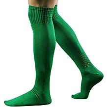 Cinnamou Calcetines largos del fútbol del fútbol de los hombres sobre el hockey de béisbol del alto calcetín de la rodilla FVG3A34