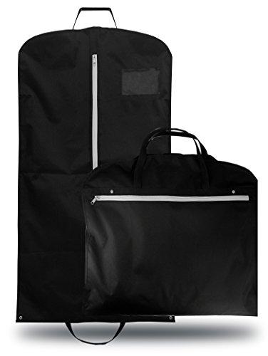 OWLMO® Elegante Anzugtasche/Kleidersack mit XXL Staufach und Tragegriffen für die knitterfreie Reise Handgepäck | faltbar | Kleidertasche Business Kleiderhülle Anzughülle Anzugsack Anzug koffer