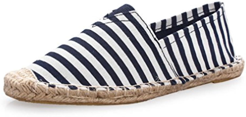 HAOYUXIANG Nuove scarpe di lino alla moda ventilazione ventilazione ventilazione uomini e donne scarpe di tela tessuto cucito a mano scarpa... | Esecuzione squisita  d85008