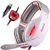Geräuschreduzierendes Gaming-Headset Für Ps4, Komfortabler, Rauschunterdrückender 3,5-Mm-Kopfhörer Mit 7.1-Mm-Gaming-Headset, Weiß Kopfhörer