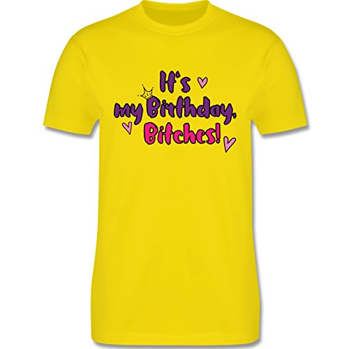 Geburtstag - It's my birthday, bitches - Herren Premium T-Shirt Lemon Gelb