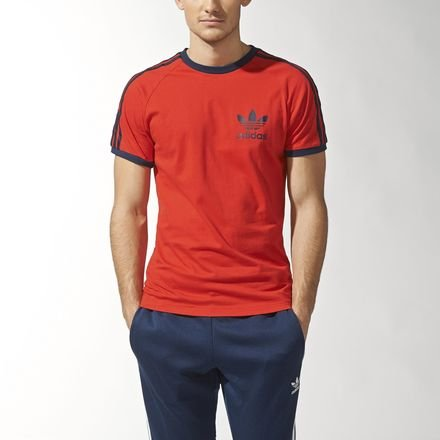 Adidas T-Shirt Men - SPORT ESS TEE - Red, Größe:M