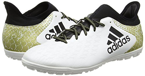 Adidas Men's X 16.3 Tf Football Boots, White (Ftwr White/Core Black/Gold Met), 8.5 UK 42 2/3 EU