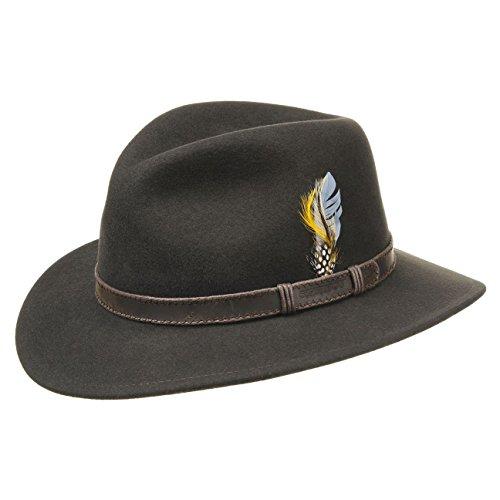 Chapeau Rutherford Earflap Stetson chapeau pour homme Marron