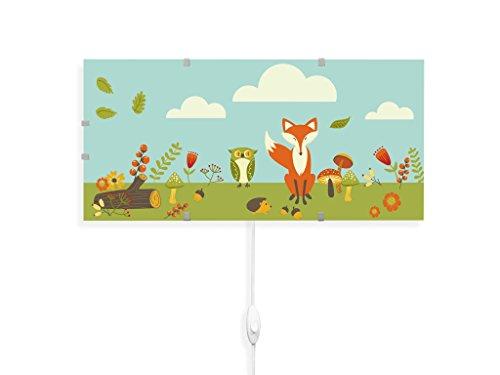 yourdea - Kinderzimmer Wandleuchten Wechsel Bild für IKEA GYLLEN 56cm mit Motiv: Waldfreunde