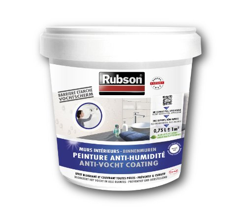 Rubson Stop Humidité Murs de Cave Blanc Pot plastique 0,75 L