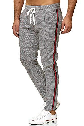 Redbridge Pantalón para Hombres Slim-Fit Rayas Casual a Cuadros Moda Elástico Finos Chino