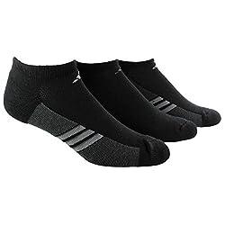 adidas Men s Superlite No Show Socks 3-Pack Black/Graphite/Medium Lead Large: fits shoe size 6-12