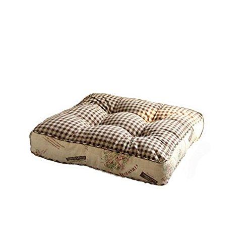 GX&XD Vintage Baumwolle Sitzkissen,LÄndlichen Verdicken sie Kissen Futon pad-B 55x55x8cm(22x22x3) -