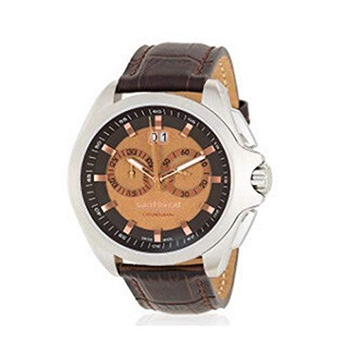 Saint Honoré Homme Chronographe Quartz Montre avec Bracelet en Cuir 8850651MIAR