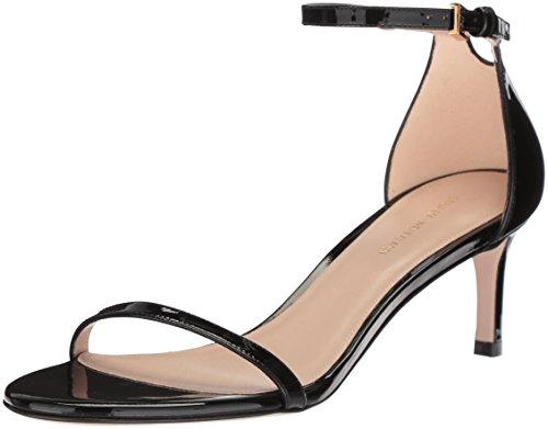 Stuart Weitzman Damen 45NUDIST Sandalen mit Absatz, Noir Gloss, 35.5 EU -