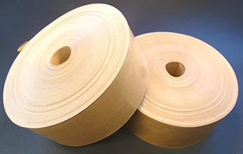 PyroPowders.de 80mm Nassklebeband, Länge 200m, 60g/m², Braun, ohne Wickelkern, Kraftpapier, Aquarellpapier