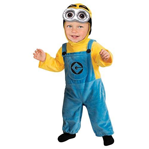 Minion Dave Kleinkinder Gr. bis 24 Monate und 2-3 Jahre Kinderkostüm Karneval 2-3 Jahre