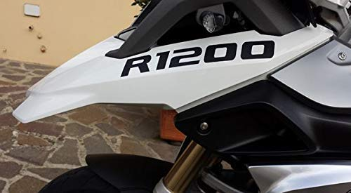 2 Adesivi Fianco Serbatoio Moto R 1200 gs LC 22,5 * 3 cm nero