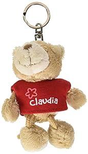NICI n15788-Llavero Oso con Camiseta Claudia, Rojo