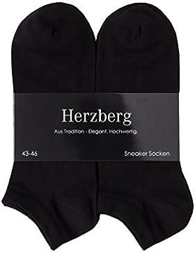 Herzberg Sneaker Socken für Damen/Herren, 6 Paar
