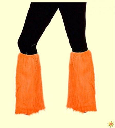 Accessoires-de-costumes-y-compris-les-tulipes-annes-70-et-80-orange-non