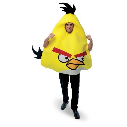 Bird Kostüm Yellow - Papier Magie 211331 Rovio Angry Birds - Yellow Angry Bird Kost-m - Gelb - One-Size - Norm