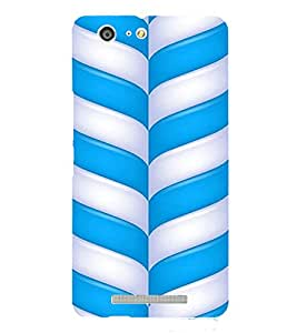 PrintVisa Candy Stick Design 3D Hard Polycarbonate Designer Back Case Cover for Gionee Marathon M5