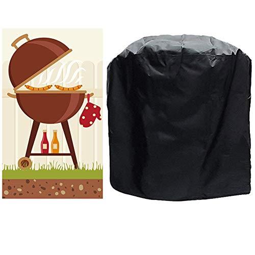 Hwl mobili copertura copertura nera for barbecue a gas copertura impermeabile resistente agli strappi, griglia for barbecue con custodia, adatta for diversi marchi esterni (size : 58×77cm)