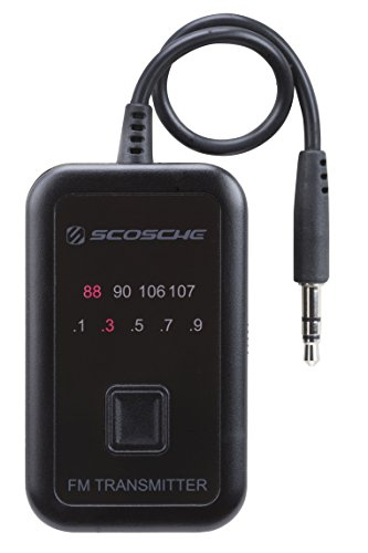 Scosche FMT4-RP FM Transmitter Universeller UKW-Transmitter mit integriertem 3,5-mm-Aux-Kabel Scosche Fm-transmitter
