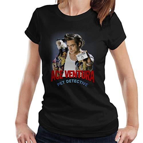 ACE Ventura Pet Detective Monkey and ID Card Women's T-Shirt (Detective Pet)