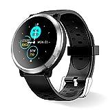 Smartwatch Reloj Inteligente, HopoFit HF04 Impermeable IP67 Podómetro Pulsómetros con Monitor de Sueño, Caloría, Notificación Llamada y Mensaje, Cámara Remoto para Andriod iOS, Hombres Mujeres (black)
