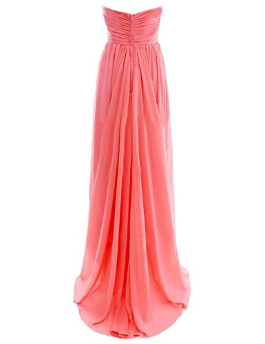 Fanciest Damen Chiffon Maxi Abendkleider Lang Brautjungfer Kleider Lilac