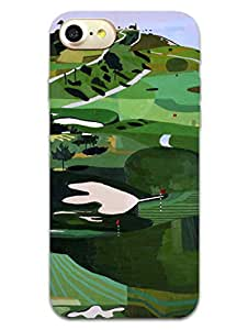 Apple iPhone 7 Back Cover - Golf Club - Paint Art - For Sports Lovers - Hard Back Shell Case
