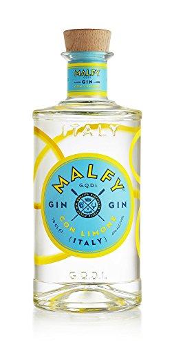 Malfy Gin con Limone 41% Vol (1x 0,7l) - spritzig-frischer Gin hergestellt aus den Schalen der Amalfi Zitrone