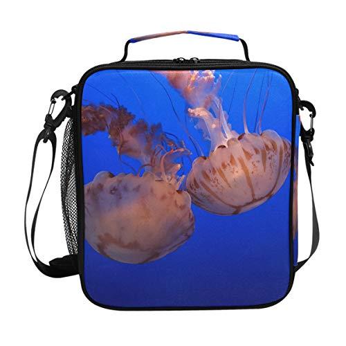 Malplena - borsa termica per il pranzo con meduse galleggianti