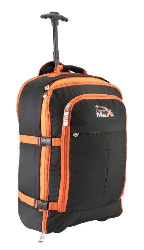 Malmo (Bolsa de mano multifunción extensible Cabin Max Malmo 55x40x25cm 44 litros) (Negro/Naranja)