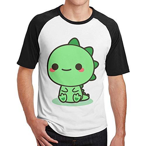 Sporsy Kurzarmshirt Hemden Mens Kawaii Dinosaur Fashion Raglan T-Shirt Combed Cotton Tee T-Shirt Top (Guy Harvey-t-shirt)