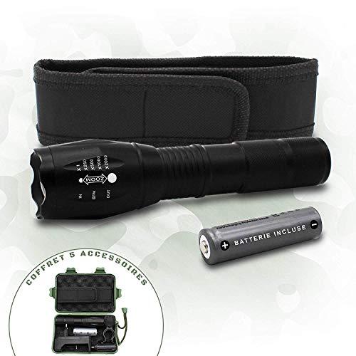 Cofanetto torcia militare professionale / accessori per luce bici / utensile multifonzione / batterie ricaricabili (caricatore incluso)