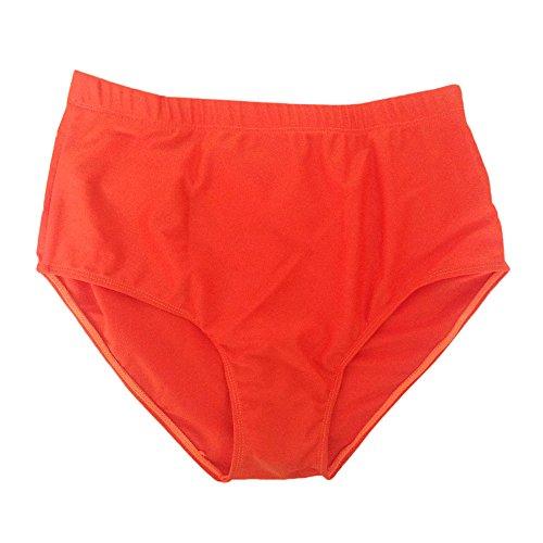 Culater® Femme Culottes de bain à la taille Haute Tankini Slips Shorts Natation Orange
