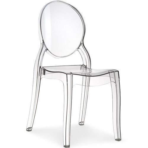 Clear Ghost Esszimmerstuhl, transparent und modern, Starck-Stil, von Victoria inspiriert-1 Stuhl