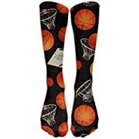 LoveBiuBiu Sock Basketball And Basketball Frame Unisex Sport Over-The-Calf Long Tube Stockings One Size