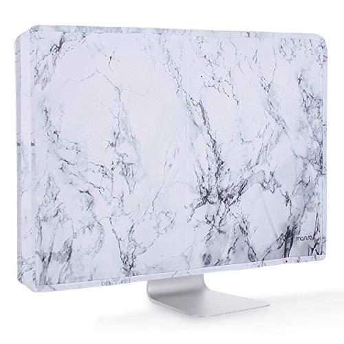 MOSISO Monitor Hülle Bildschirm Hülle 26, 27, 28, 29 Zoll Anti-Statik LCD/LED/HD Display Staubschutz Hülle Kompatibel 26-29 Zoll iMac, PC, Desktop Computer und TV, Weiß Marmor (Computer Apple Desktop)