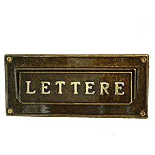 arterameferro Letterbox Mailbox Mail Letters in Burnished Brass External