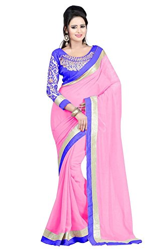 Sunshine Fashion Georgette Saree (Sunsa782_Baby Pink)