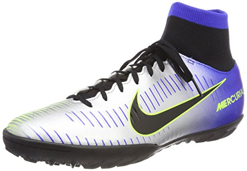 Nike mercurialx victory 6 df njr tf, scarpe da fitness uomo, (racer bluee/black chr 407), 42.5 eu