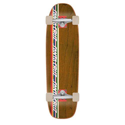 Santa Cruz Skateboard, gestreift, gestreift, Mehrfarbig, 21,6 cm L x 73,4 cm W -