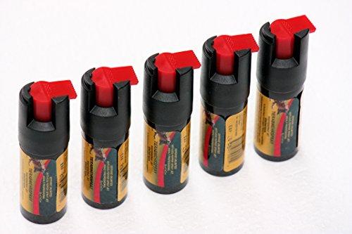 SPARANGEBOT!! 5 Flaschen Pfefferspray Jet Sprühstrahl Tier Abwehrspray