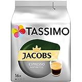 Tassimo Jacobs Espresso Ristretto, 5er Pack Kaffee T Discs (5 x 16 Getränke)