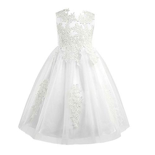 CHICTRY Mädchen Festlich Kleid Prinzessin Kleid Hochzeits Festzug Kleid Blumenmädchenkleid Tüll...