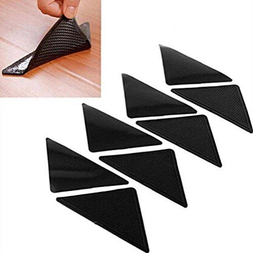 4Paar Silikon Teppich Teppich Matte Greifer Rutschfest Anti Skid wiederverwendbar waschbar Grip Kissen Crash Pad (Teppich Griff Läufer)