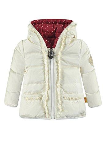 Steiff Baby-Mädchen Anorak zum Wenden Jacke, Weiß (Whisper White 1100), 68 -
