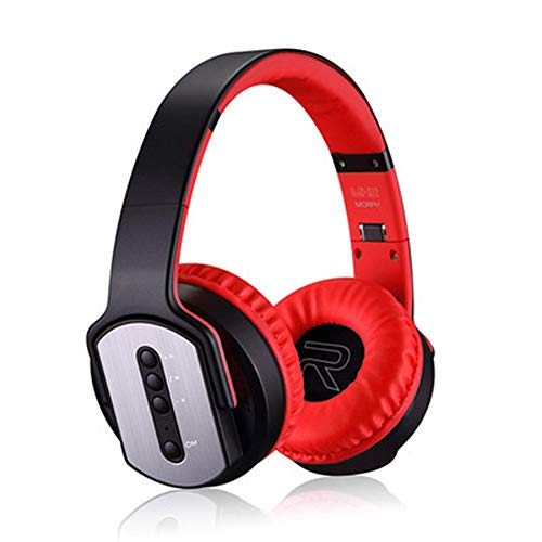 Unbekannt Kabelloses Over-Ear-Headset mit Stereo-Sound, kabellosem und kabelgebundenem Headset für PC/Handy/TV/iPad-red Tv Ears-batterie