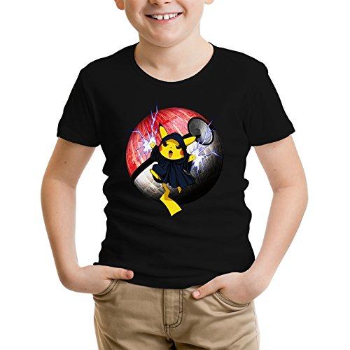 T-Shirt Enfant Noir Star Wars - Pokémon parodique Pikachu et Palpatine Darth Sidious : Pika Dark Side : (Parodie Star Wars - Pokémon)