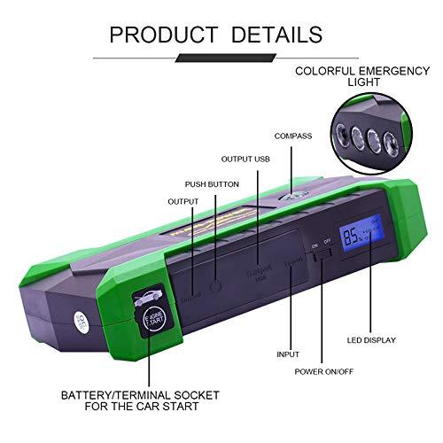 ZUEN Autobatterie-Sprungs-Starter 68000Mwh-Startvorrichtung 12V 800A Tragbare Selbstüberbrücker-Autoladegerät-Auto-Zusatzenergienbank